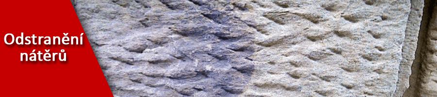 Odstranění nátěrů z kamene